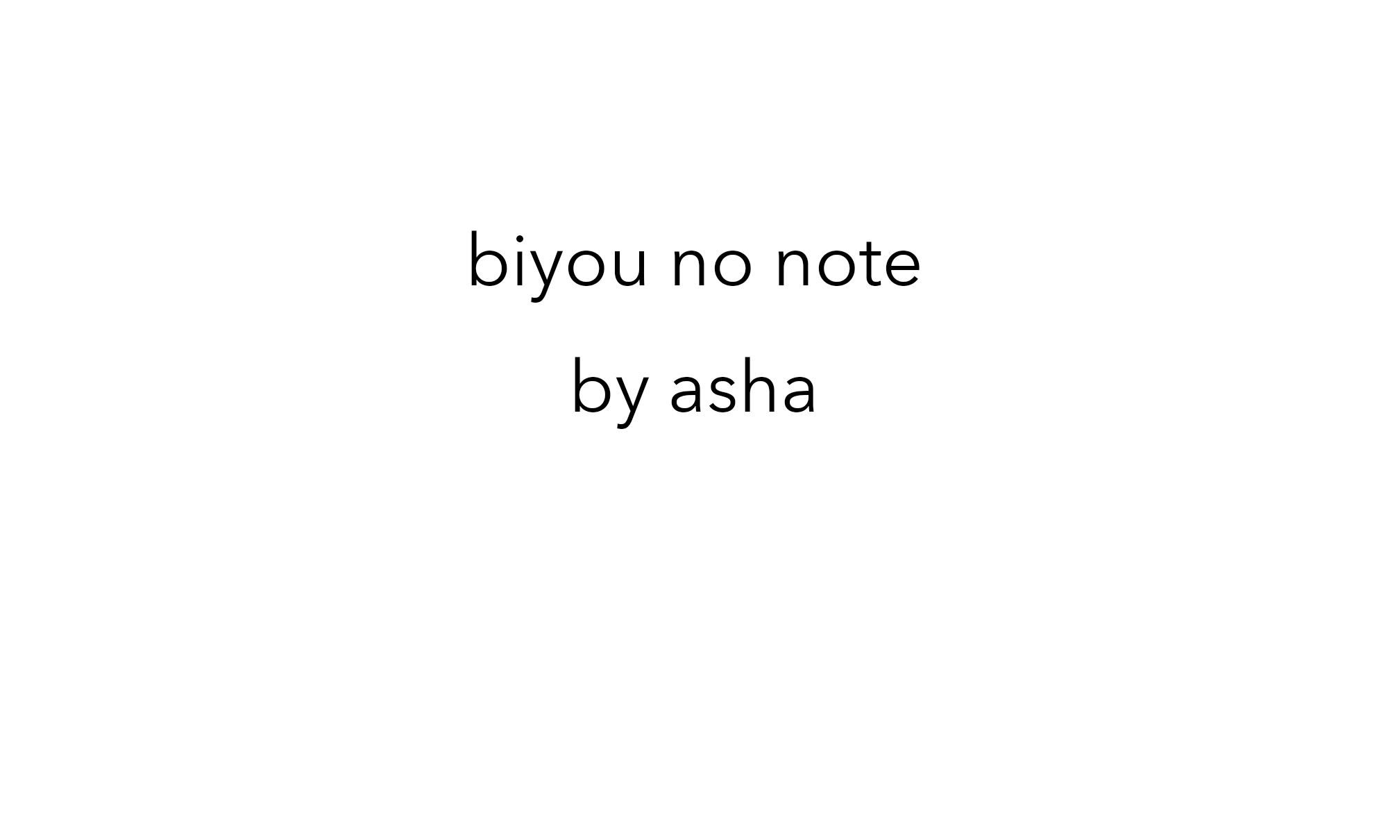biyou no note